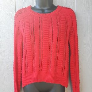 Romeo & Juliet Couture Sweaters - Romeo + Juliet Couture Open Net High Low Sweater S